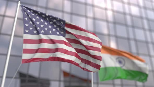 Flags of the United States and India