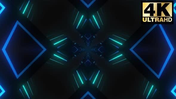 Thumbnail for 9 Neon Blocks Vj Loop Pack