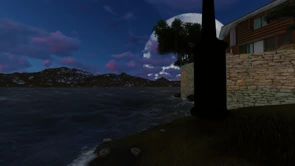 Thumbnail for Moon over the lake