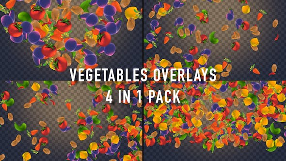 Thumbnail for Vegetables Overlays Pack