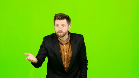 Thumbnail for Guy in the Suit Got Angry and Started Shouting Loudly. Green Screen