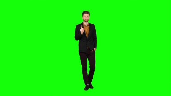 Thumbnail for Businessman Scolds His Subordinates, They Do Not Work. Green Screen