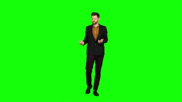 Thumbnail for Man Is Very Tired and Thoughtful, Reflects on Life. Green Screen