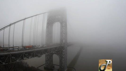 Thumbnail for Fog Washington Bridge Wide Fast Full HD