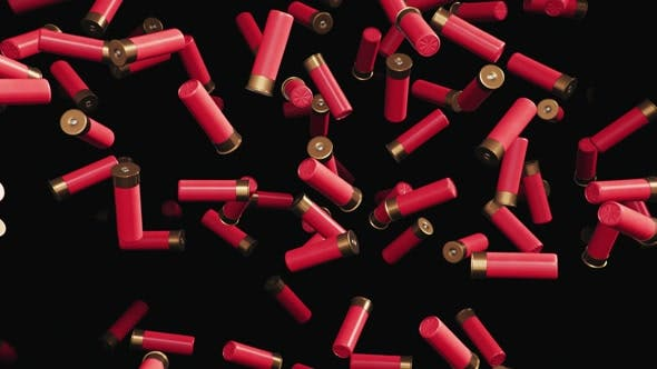 Thumbnail for Endless Rain of Shotgun Shells on a Dark Background