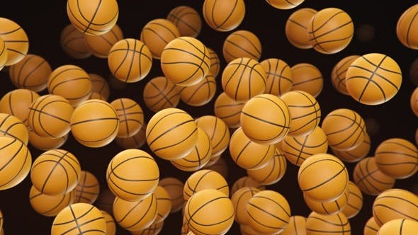 Thumbnail for Floating Basketballs on a Dark Background