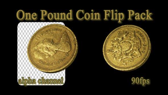 1 Pfund Münze Flip Pack