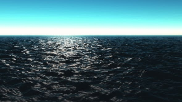 Thumbnail for Computer Generated Beautiful Ocean Scene with Shiny Warm Sun