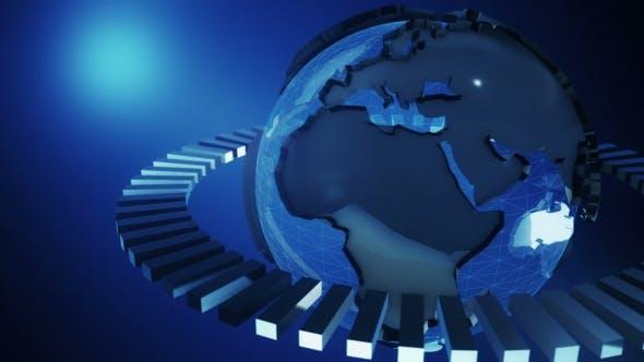 Thumbnail for Digital Blue Shinny Globe of Earth