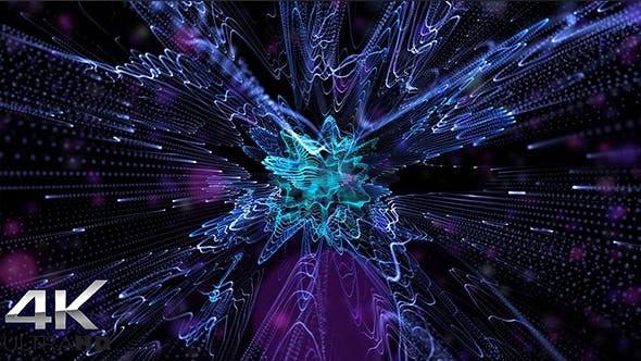 Thumbnail for Beautiful Movement Blue Particles Background