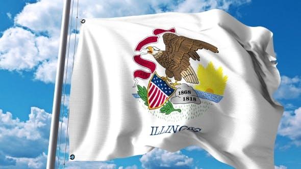 Thumbnail for Waving Flag of Illinois