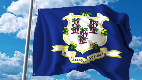 Waving Flag of Connecticut