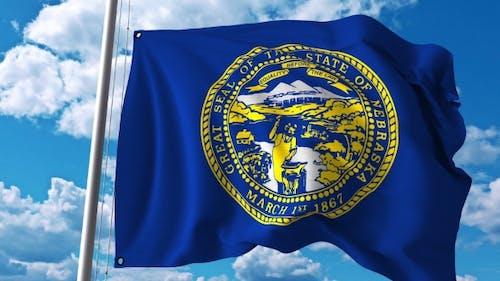 Waving Flag of Nebraska