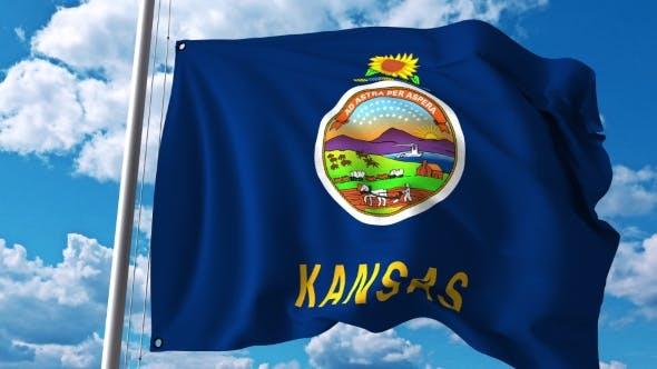 Thumbnail for Waving Flag of Kansas