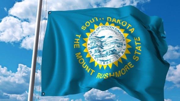 Waving Flag of South Dakota