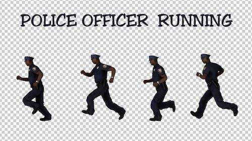 Männlicher Polizeibeamter Laufen