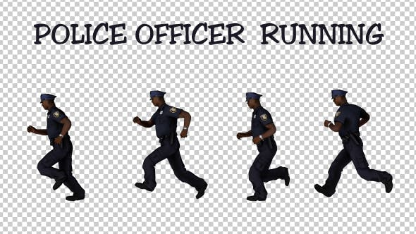 Thumbnail for Male Police Officer Running