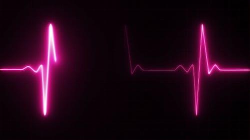 Herzschlag Puls in Pink