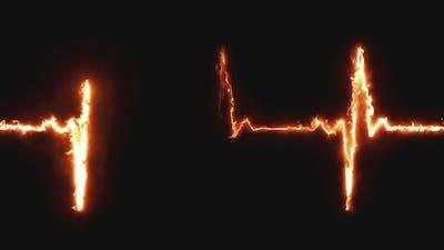 Heart Beat Pulse in Fire