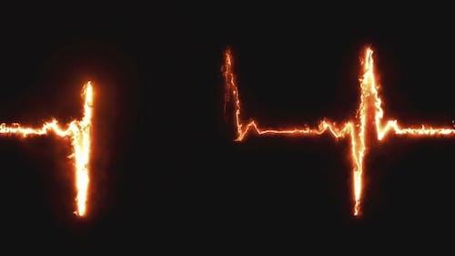 Herzschlag Puls im Feuer