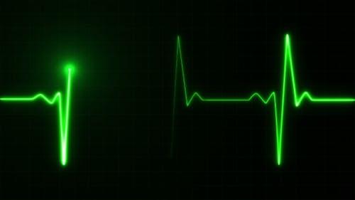 Herzschlag Puls in Grün
