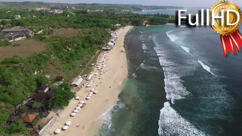 Aerial View of the Surfer Beach Balangan