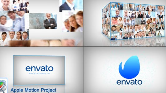 Thumbnail for Clean Corporate Multi Video Logo Opener - Apple Motion