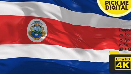 Thumbnail for Costa Rica Flag 4K