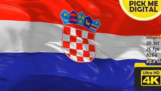 Thumbnail for Croatia Flag 4K