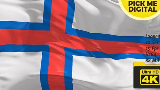 Cover Image for Denmark-Faroe Islands Flag 4K