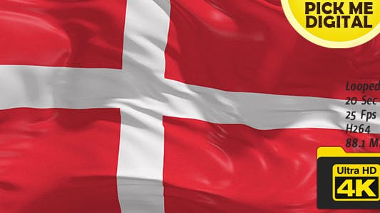 Thumbnail for Denmark Flag 4K