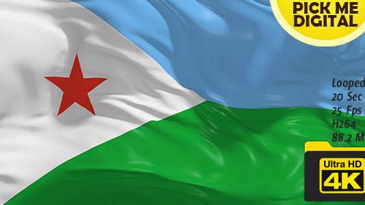 Thumbnail for Djibouti Flag 4K