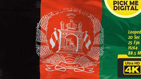 Thumbnail for Afghanistan Flag 4K