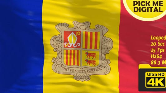 Cover Image for Andorra Flag 4K
