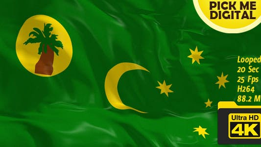 Cover Image for Australia-Cocos Islands Flag 4K
