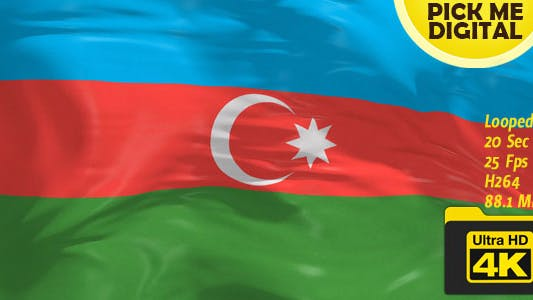 Cover Image for Azerbaijan Flag 4K
