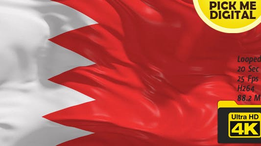 Thumbnail for Bahrain Flag 4K