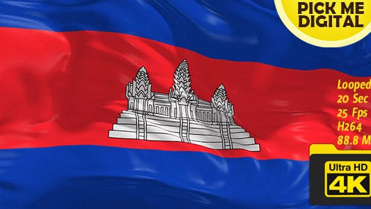 Thumbnail for Cambodia Flag 4K
