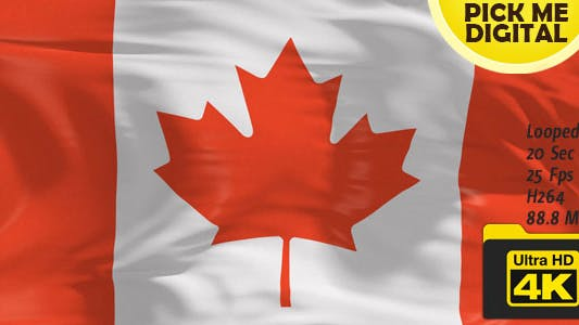 Thumbnail for Canada Flag 4K