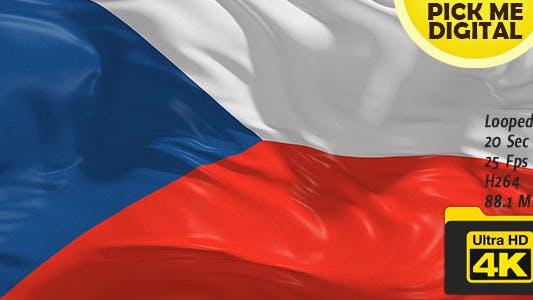 Thumbnail for Czech Republic Flag 4K