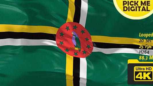 Cover Image for Dominica Flag 4K