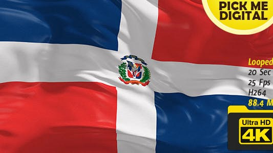 Thumbnail for Dominican Republic Flag 4K