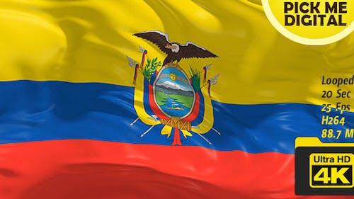 Ecuador Flag 4K