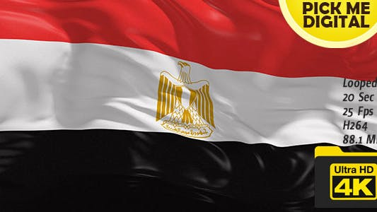 Thumbnail for Egypt Flag 4K