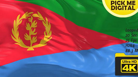 Cover Image for Eritrea Flag 4K