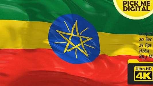 Thumbnail for Ethiopia Flag 4K