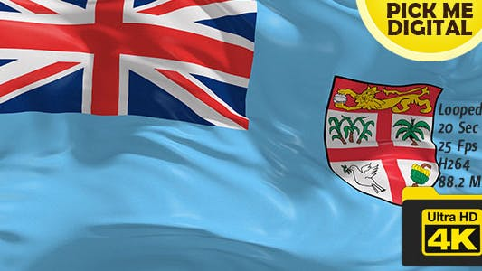 Fiji Flag 4K
