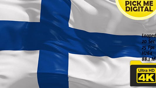 Cover Image for Finland Flag 4K