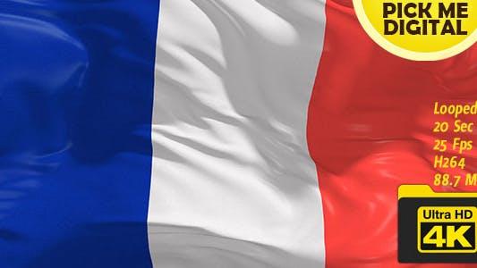 Cover Image for France Flag 4K