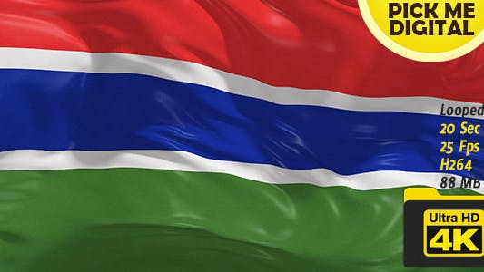 Thumbnail for Gambia Flag 4K